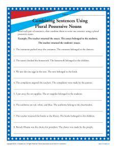 plural possessive nouns 3rd grade noun worksheet