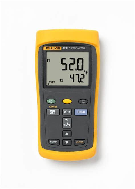 Thermometer Fluke fluke 51 2 calibrated single input thermometer industrial scientific