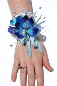 stunning galaxy blue orchid amp stephanotis wedding wrist corsage stunning galaxy blue orchid