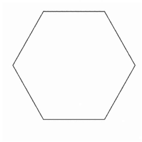 Hexagon Free Colouring Pages Hexagon Coloring Page