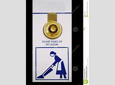 Please Make Up Room stock photo. Image of door, clean ... W Hotel Logo Vector