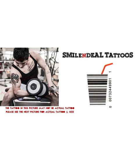 barcode tattoo cost smilendeal removeable temp body tattoo barcode tattoo