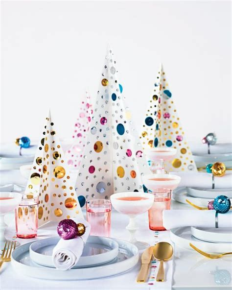 sequined christmas tree centerpiece martha stewart