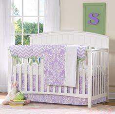 Lavender And Green Crib Bedding by Nursery Ideas On Sock Monkey Nursery