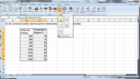 2 4 construct ogive with excel youtube 2 4 construct scatter plot for matched pair data using