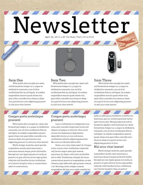 digital newsletter templates free 12 best newsletters mastheads images on