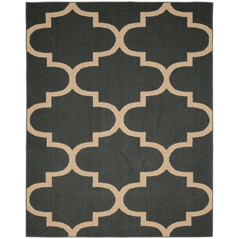 Quatrefoil Area Rug Garland Rug Large Quatrefoil Cinder 8 Ft X 10 Ft Area Rug Ll240a09612040 The Home Depot