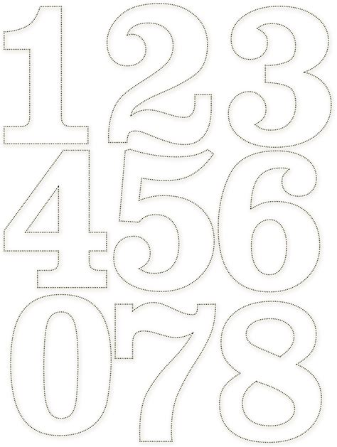 number 4 cake template dotted numbers letras template