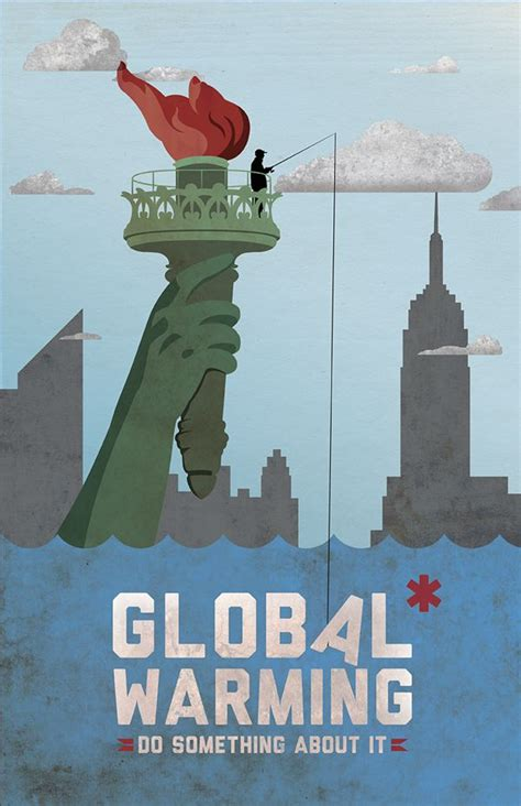 membuat poster global warming good4planet tip of the week tell people climate change