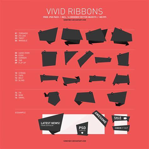 ribbon vector tutorial photoshop 無料ダウンロードできる リボン用psdベクター素材100個まとめ photoshopvip