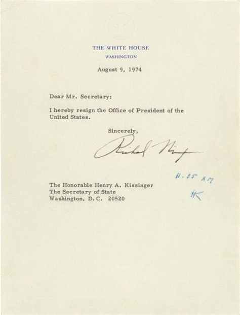 Richard Nixon Resignation Letter by Pin By Craig Pittman On Show Me Your Papers