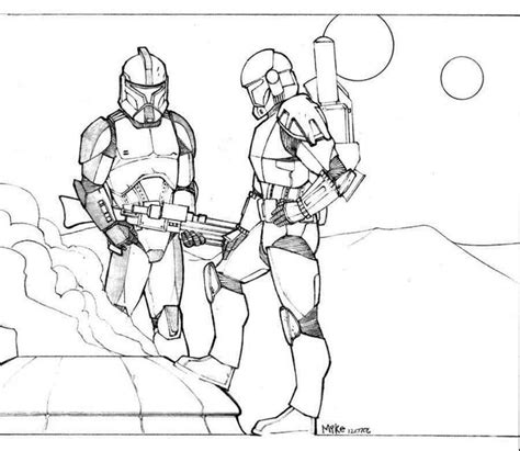 coloring pages wars clone trooper clone wars commander coloring pages coloring home