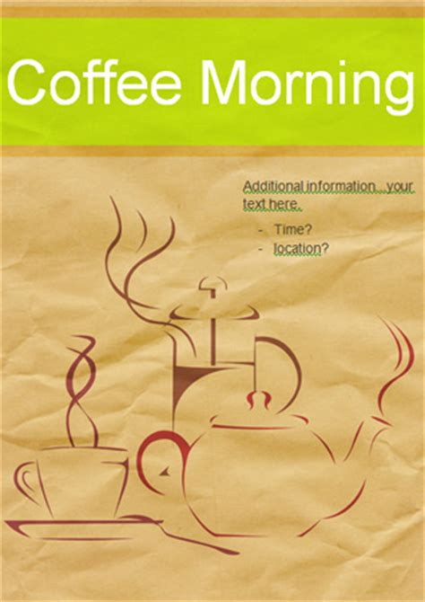 flyer template ks1 editable coffee morning poster free eyfs ks1 resources