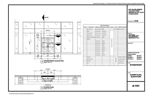 How To Draw Sliding Doors In Floor Plan by Architectural Metal Amp Glass Shop Drawings