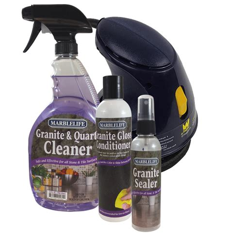 Granite care countertop clean, seal and care kit by