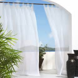 Outdoor Patio Curtains by Outdoor Decor Escape Velcro Tab Top Outdoor Curtain Panel