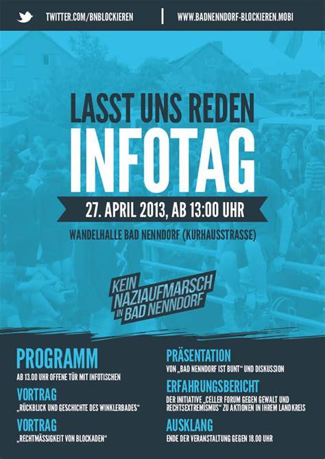 Plakat Veranstaltung by Bad Nenndorf 171 Initiative 187 Kein Naziaufmarsch In Bad Nenndorf 171