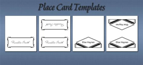 100 sided place card template 2263 best bold