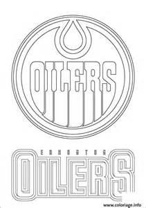 coloriage edmonton oilers logo lnh nhl hockey sport