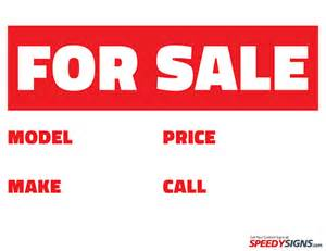 Vehicle For Sale Sign Template by Free Vehicle For Sale Printable Sign Template Free