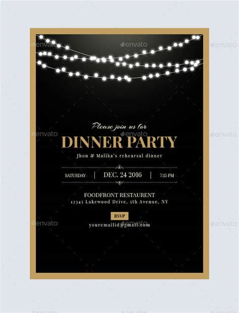 dinner invitation templates free premium templates