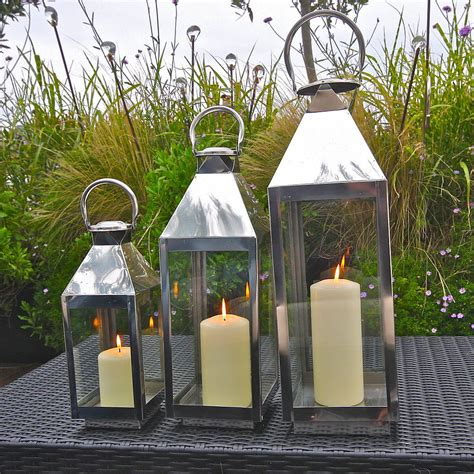 backyard lanterns st mawes hurricane garden lantern by london garden trading