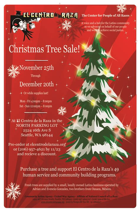christmas tree sale november 25 december 18 2016 m f 4 8
