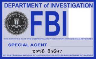 Special Agent Id Card Template Fbi Bages Colouring Pages