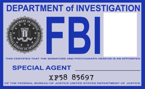 printable fbi badge free clipart