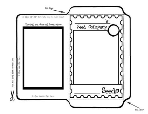 printable seed packet template 17 best images about scouts welcome to the flower