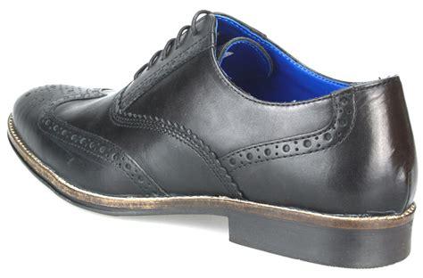 mens leather slim lace up brogue formal suit shoes