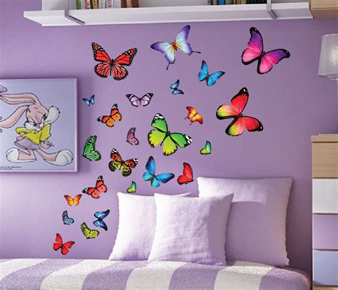 butterfly wall decals set design idea and decorations