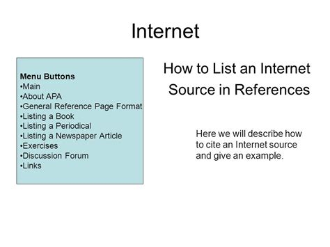 format apa internet janet giesen and kit o toole ppt download