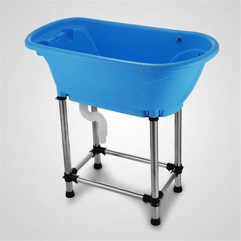 raised dog bathtub booster bath elevated dog washing tub grooming bathtub 37