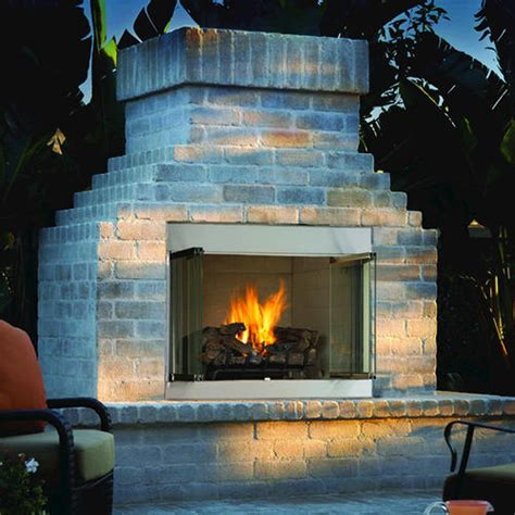 Menards Gas Fireplace by Ihp 42 Quot Vent Free Outdoor Fireplace Ng Insert Only At