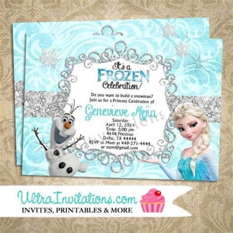 printable olaf party invitations 645 best frozen party images on pinterest frozen