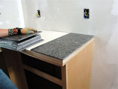 Granite Tile Bar Top by How To Install A Granite Tile Kitchen Countertop How Tos