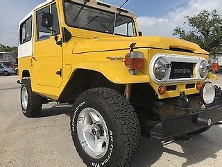 1965 toyota land cruiser fj40 yellow suv 3.9 l manual 5 speed