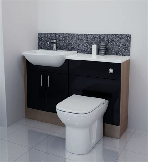 Bathcabz Bathroom Fitted Furniture Products Fitted Black Gloss Bathroom Furniture