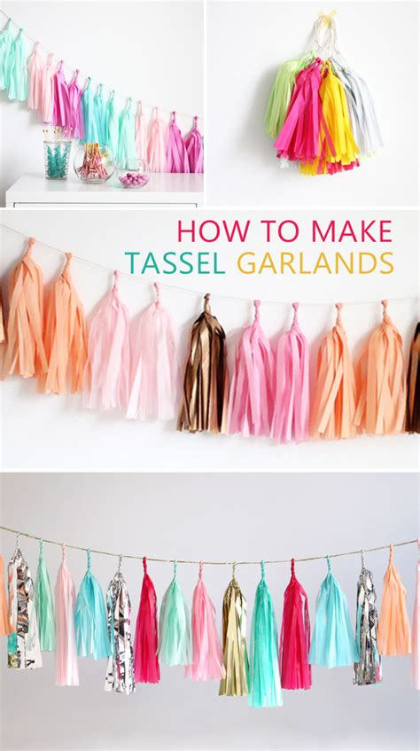 Make Your Own Paper Garland - how to make a tassel garland easy step by step diy