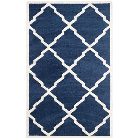 outdoor rug 5 x 8 safavieh amherst navy beige 5 ft x 8 ft indoor outdoor area rug amt421p 5 the home depot