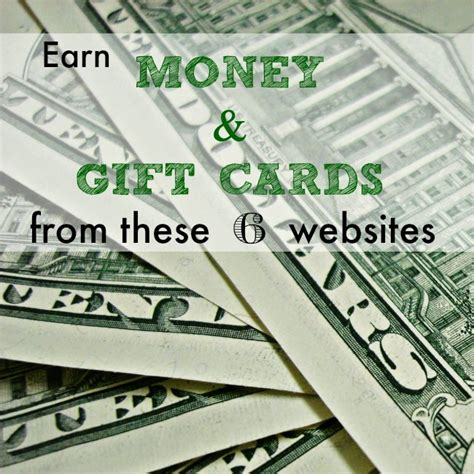 Gift Card Earning Websites - 6 ways to earn cash gift cards online livin the mommy life