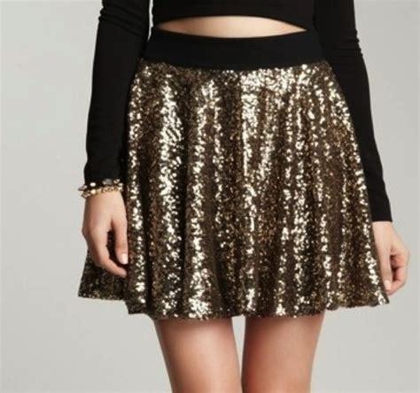 shirt gold skirt sequin shirt gold sequins skater
