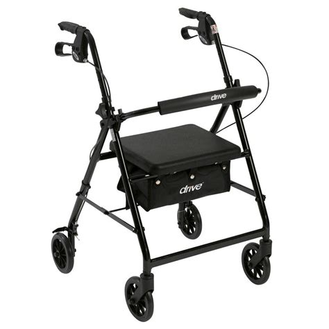 drive 4 wheel walker with seat drive 4 wheel rollator walker with fold up and removable