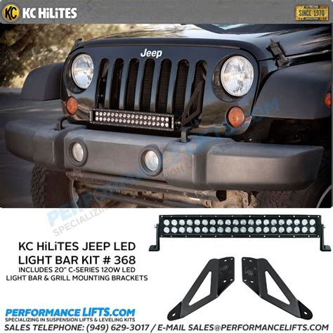 Kc Hilites C Series Jeep Jk Grill Mounted 20 Quot Led Light