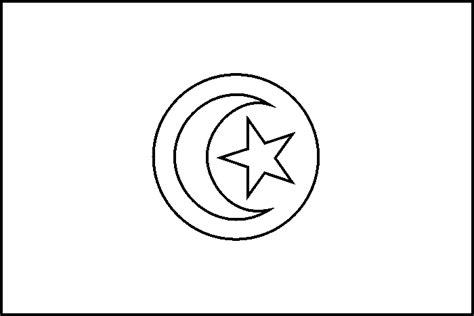 Tunisia Flag Coloring Page tunisia flag free colouring pages