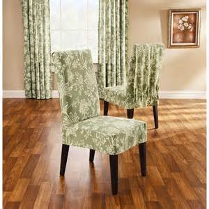Dining Room Chair Slipcovers Short Verona Short Dining Room Chair Slipcover Sage Walmart Com