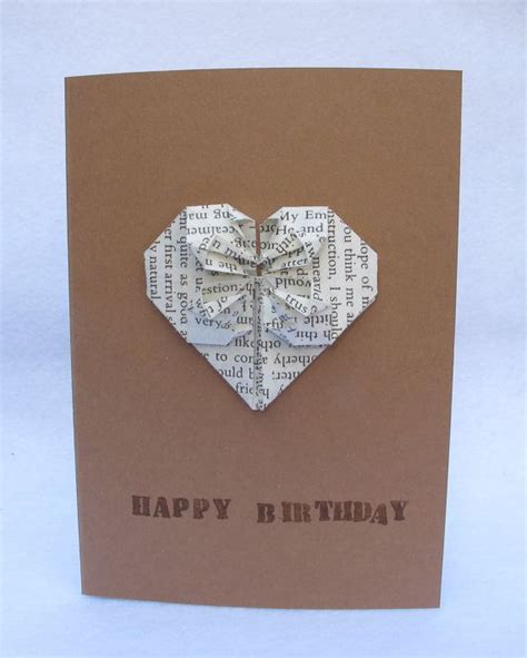 Origami Card Birthday - a handmade origami birthday card wedding