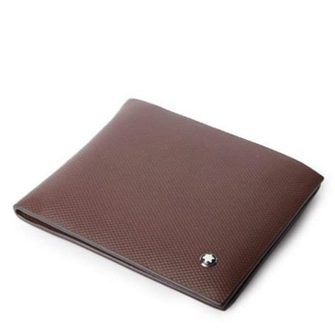 Wallet Montblanc 05 Brown montblanc textured with logo wallet brown 8103 in pakistan