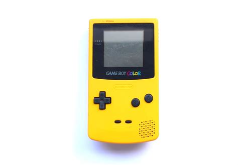 ebay gameboy color nintendo boy color gbc system yellow held